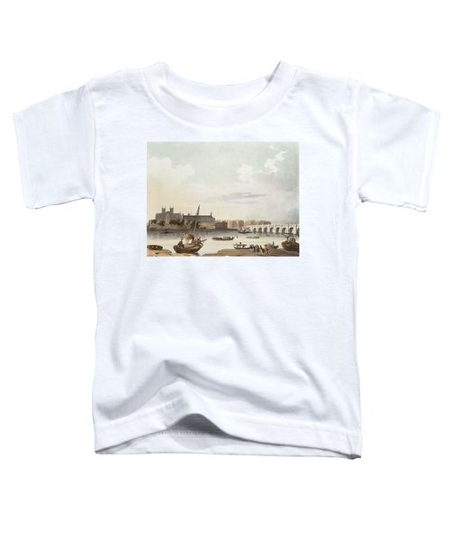 View Of Westminster And The Bridge Wc On Paper Toddler T-Shirt by English School