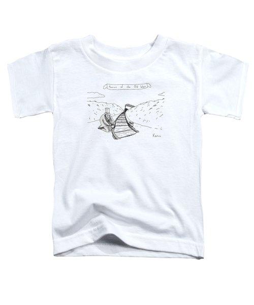 Villainous Individual In Old-western Garb Toddler T-Shirt