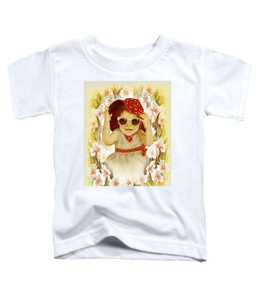 Toddler T-Shirt featuring the painting Vintage Fashion Girl by Irina Sztukowski