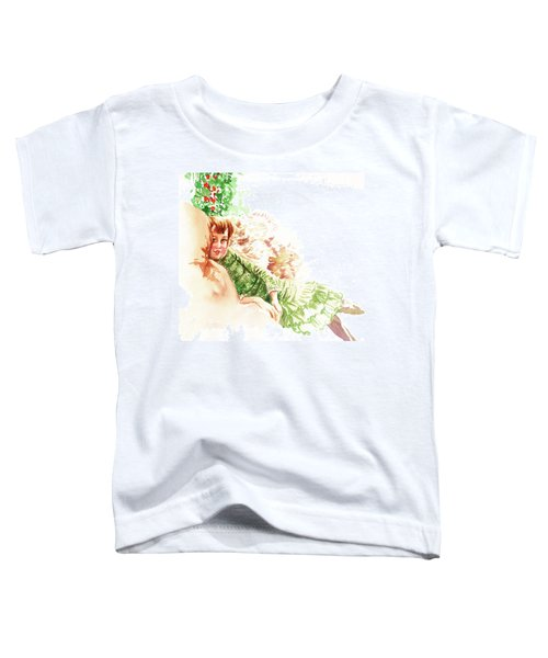 Toddler T-Shirt featuring the painting Vintage Study Lilian Of James Tissot by Irina Sztukowski
