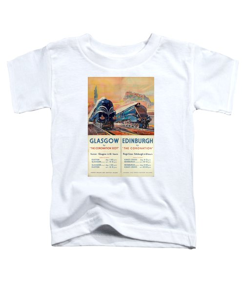 Vintage Train Travel - Glasgow And Edinburgh Toddler T-Shirt