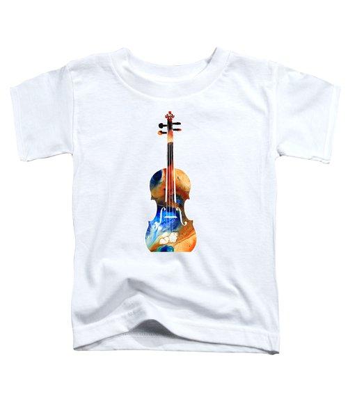 Violin Art By Sharon Cummings Toddler T-Shirt