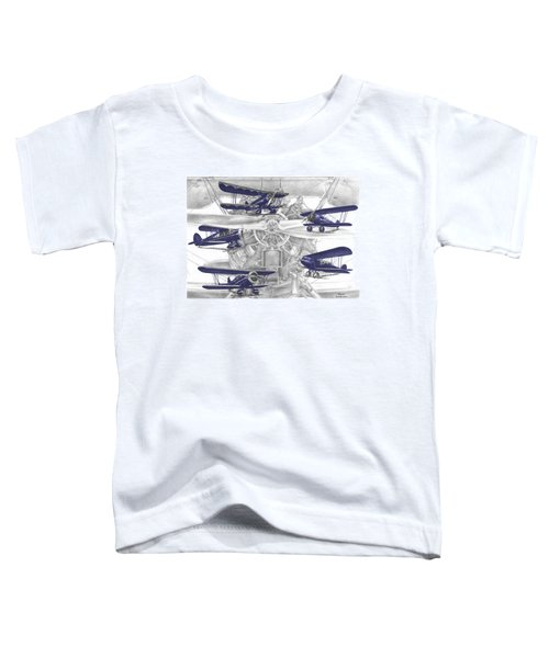 Wacos - Vintage Biplane Aviation Art With Color Toddler T-Shirt