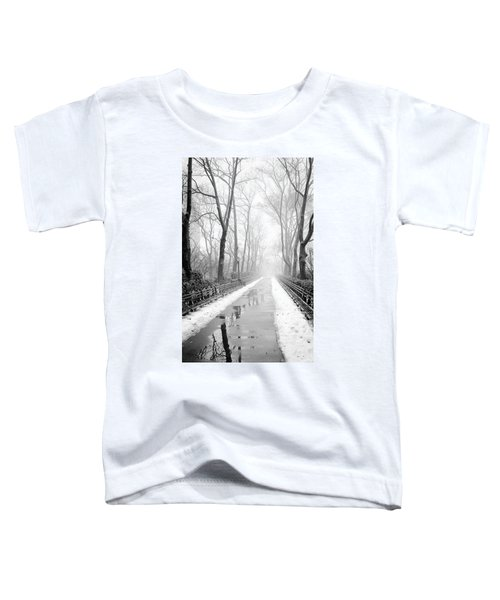 Walkway Snow And Fog Nyc Toddler T-Shirt