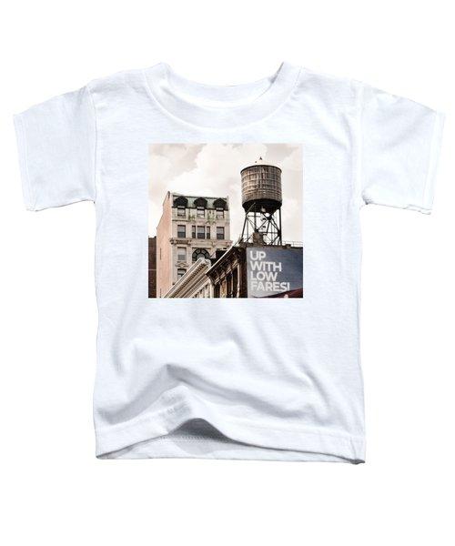 Water Towers 14 - New York City Toddler T-Shirt