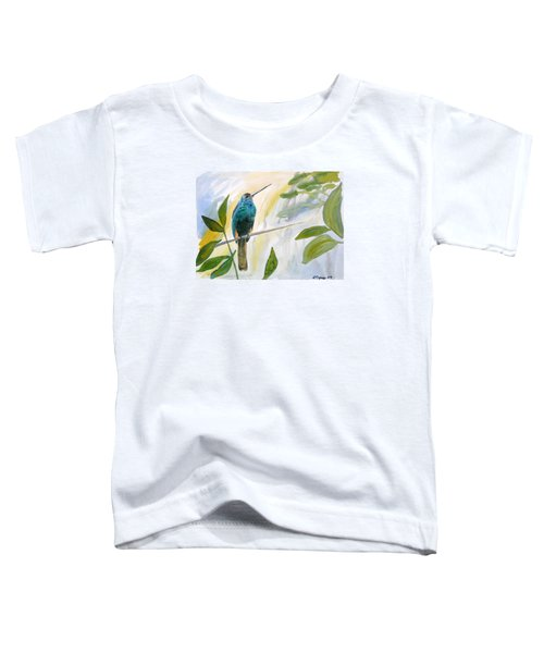 Watercolor - Jacamar In The Rainforest Toddler T-Shirt