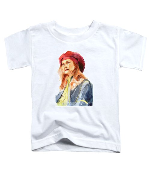 Watercolor Portrait Of An Old Lady Toddler T-Shirt