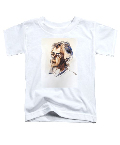 Watercolor Portrait Sketch Of A Man In Monochrome Toddler T-Shirt