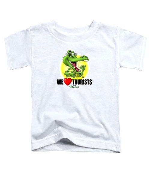 We Love Tourists Gator Toddler T-Shirt