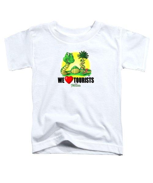 We Love Tourists Snake Toddler T-Shirt