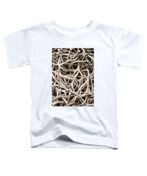 Weathered Elk Antlers Toddler T-Shirt