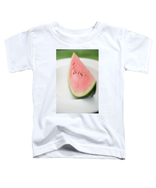 Wedge Of Watermelon On Plate Toddler T-Shirt