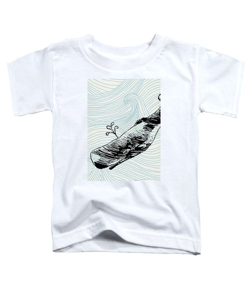 Whale On Wave Paper Toddler T-Shirt