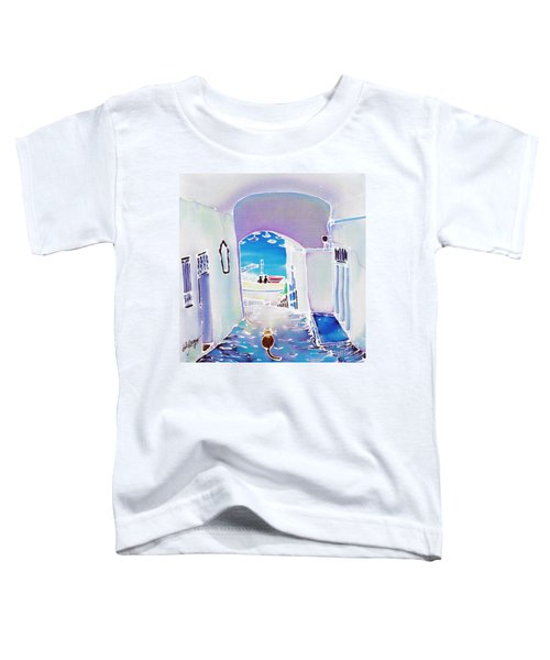 White And Blue 1 Toddler T-Shirt