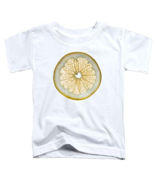 White Grapefruit Slice Toddler T-Shirt by Steve Gadomski