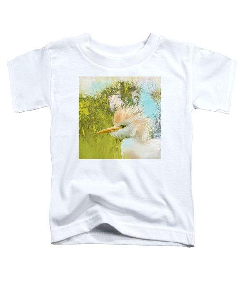 White Kingfisher Toddler T-Shirt