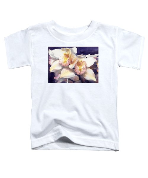 White Orchids Watercolor Toddler T-Shirt