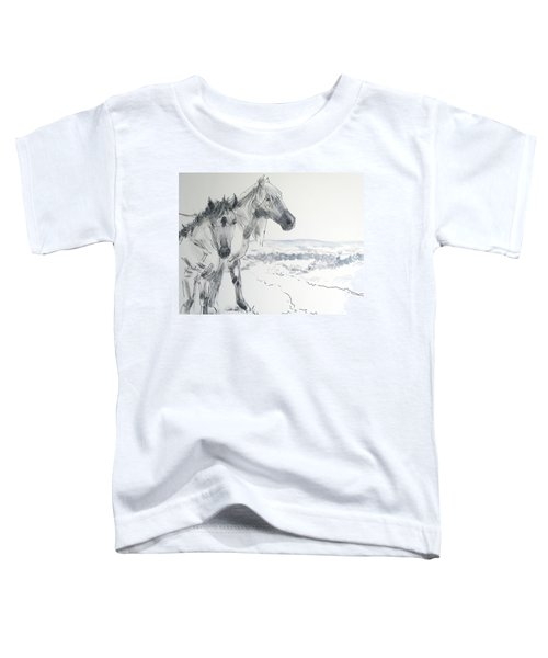 Wild Horses Drawing Toddler T-Shirt