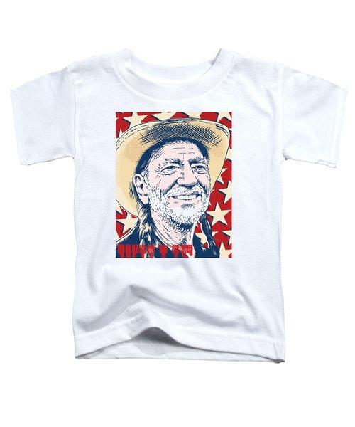 Willie Nelson Pop Art Toddler T-Shirt