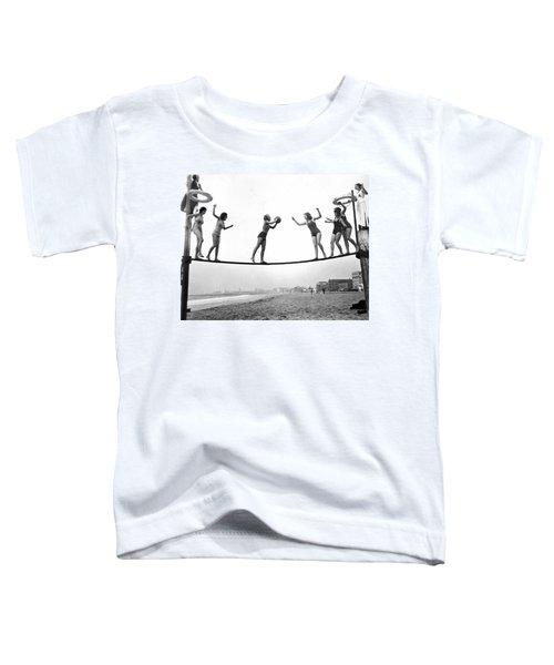 Women Play Beach Basketball Toddler T-Shirt