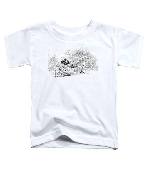 Wooden House After Heavy Snowfall. Russia Toddler T-Shirt