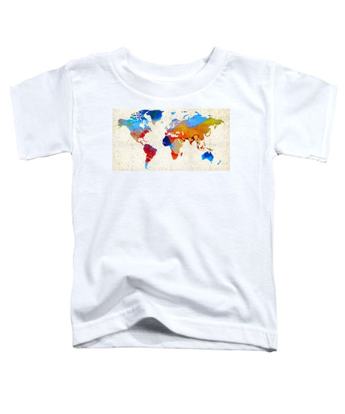 World Map 18 - Colorful Art By Sharon Cummings Toddler T-Shirt