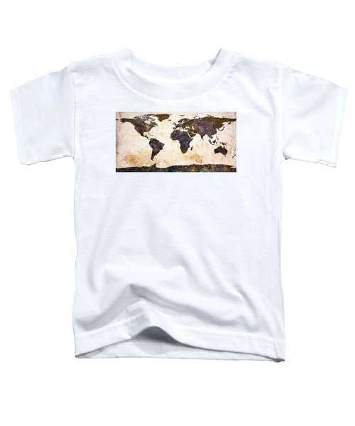 World Map Abstract Toddler T-Shirt