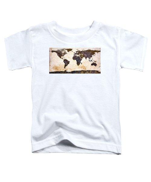 World Map Abstract Toddler T-Shirt