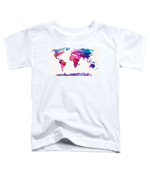 World Map Light  Toddler T-Shirt by Mike Maher
