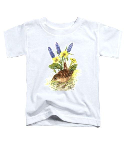 Wren In Primroses  Toddler T-Shirt