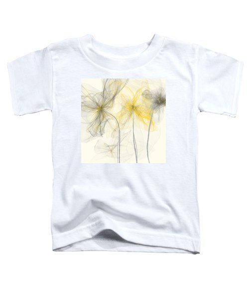 Yellow And Gray Flowers Impressionist Toddler T-Shirt