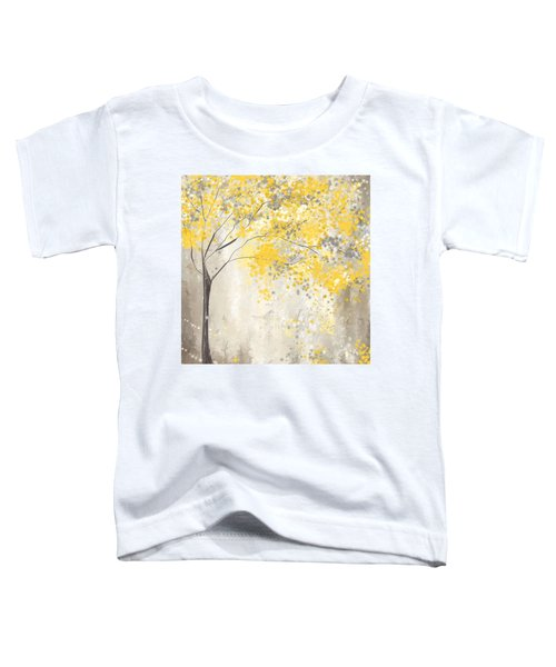 Yellow And Gray Tree Toddler T-Shirt