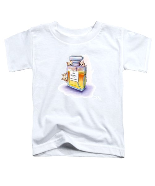 Yorkie Chanel Crazies Toddler T-Shirt