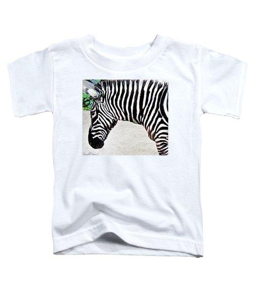 Zebra Alcohol Inks  Toddler T-Shirt