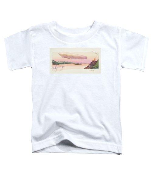 Zeppelin, Published Paris, 1914 Toddler T-Shirt by Ernest Montaut