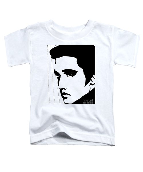 Elvis In Black And White Toddler T-Shirt