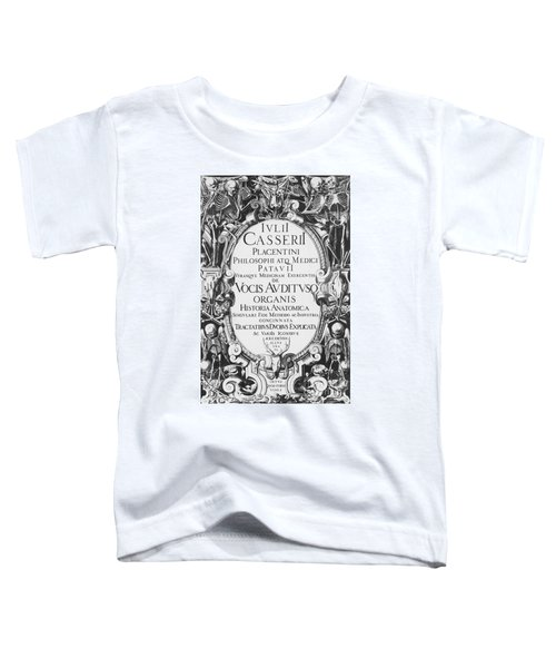 Title Page, Giulio Casserios Anatomy Toddler T-Shirt
