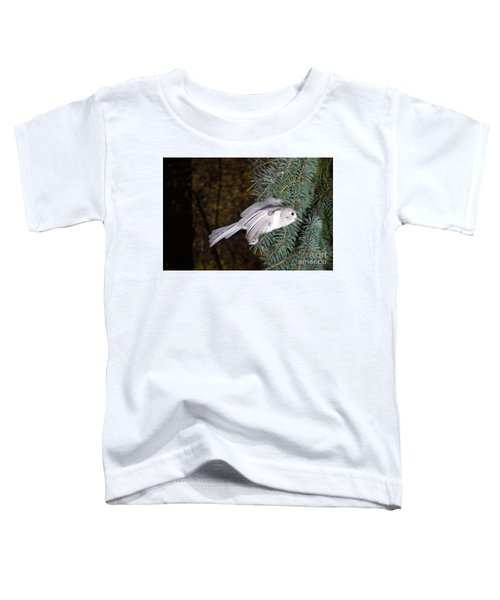 Tufted Titmouse In Flight Toddler T-Shirt