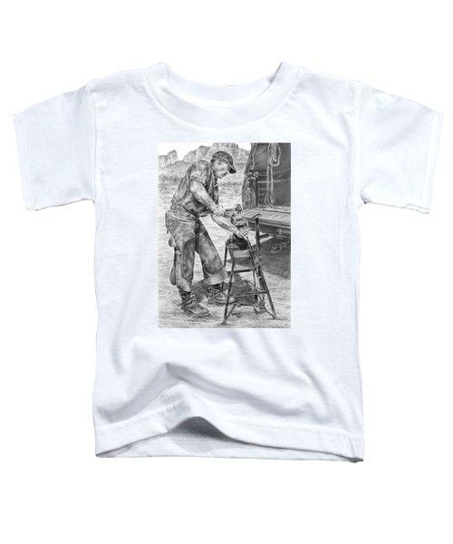 A Man And His Trade - Farrier Art Print Toddler T-Shirt