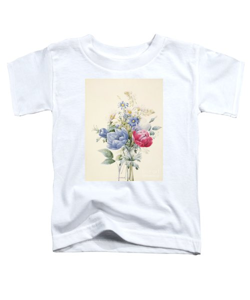 A Rose Anemone Mignonette And Daisies Toddler T-Shirt