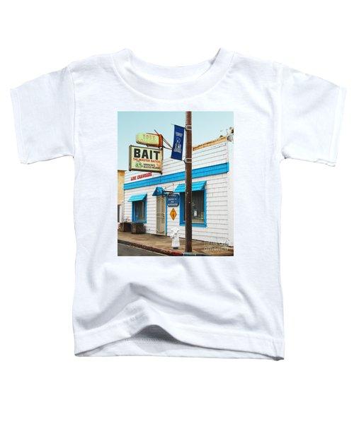 Bobs Bait Shop In Isleton California . The Master Baiter Toddler T-Shirt
