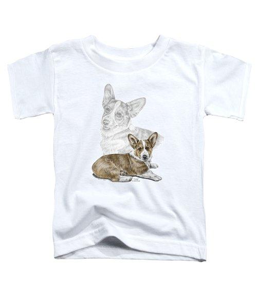 Corgi Dog Art Print Color Tinted Toddler T-Shirt