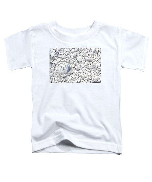 Toddler T-Shirt featuring the photograph Cracked Earth by Nareeta Martin