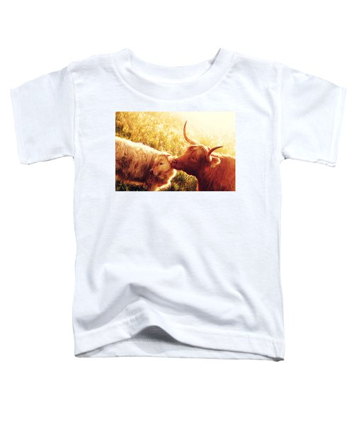 Fenella With Her Daughter. Highland Cows. Scotland Toddler T-Shirt