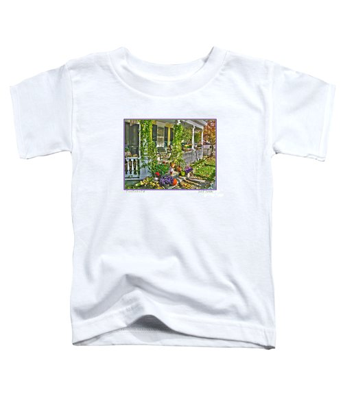 Front Porch In Fall Toddler T-Shirt