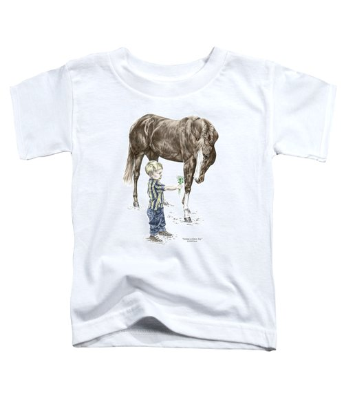 Getting To Know You - Boy And Horse Print Color Tinted Toddler T-Shirt