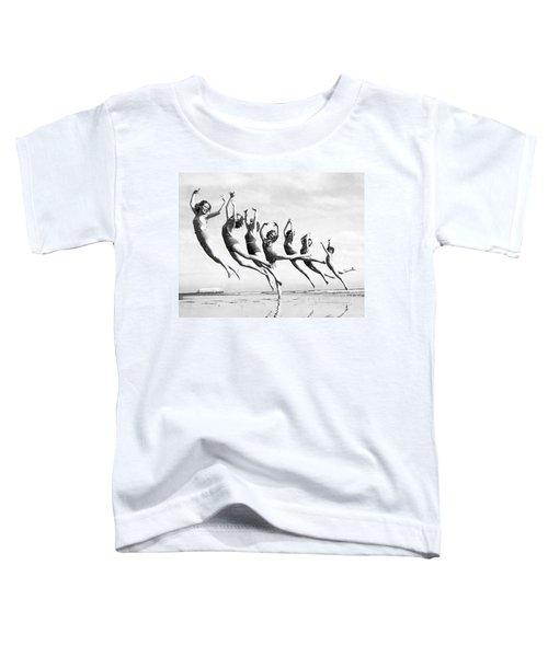Graceful Line Of Beach Dancers Toddler T-Shirt