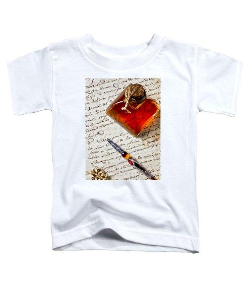 Ink Bottle And Pen  Toddler T-Shirt