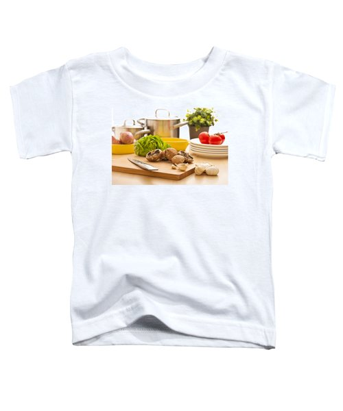 Kitchen Still Life Preparation For Cooking Toddler T-Shirt