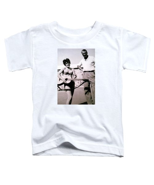 Toddler T-Shirt featuring the photograph Mama Chris And Gary Cooper In Monte Carlo 1958 by Colette V Hera  Guggenheim